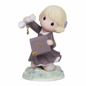 Precious Moments Blonde Key To Success Graduation Figurine