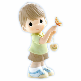 Precious Moments:  Butterfly Kisses With Love Filled Wishes - Boy Figurine