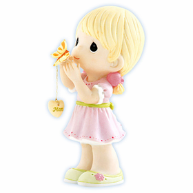 Precious Moments:  Butterfly Kisses With Love Filled Wishes - Girl Figurine