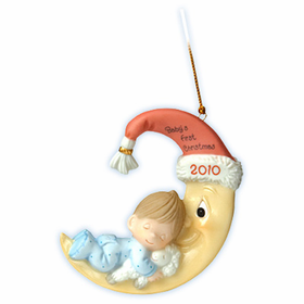 Precious Moments Christmas:  Baby Boy's First Christmas - Dated 2010 Ornament