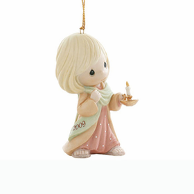 PRECIOUS MOMENTS CHRISTMAS:  MAY YOUR FAITH LIGHT THE WAY - DATED 2009 ORNAMENT