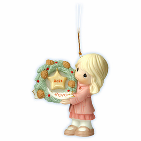 Precious Moments Christmas: My Hope Is In You - Dated 2010 Ornament