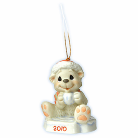 Precious Moments Christmas:  Snow Day Like a Holiday - Dated 2010 Bear Ornament