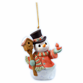 Precious Moments Christmas:  Snowman Home For the Holidays - Ornament
