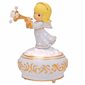Precious Moments Christmas:  Trumpeting Angel Musical Figurine