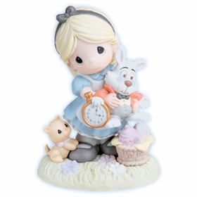 PRECIOUS MOMENTS DISNEY ALICE IN WONDERLAND:  IT'S NEVER TOO LATE FOR FUN WITH FRIENDS