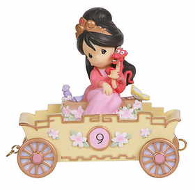 Precious Moments Disney Princess Birthday Train Age 9 Mulan