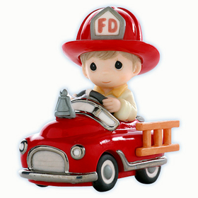 Precious Moments: Fireman To Your Rescue