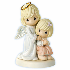 Precious Moments Guardian Angel Girl: Always By Your Side