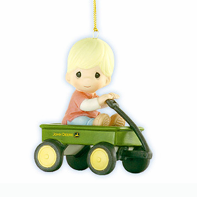PRECIOUS MOMENTS JOHN DEERE:  CRUISING THROUGH THE HOLIDAYS ORNAMENT