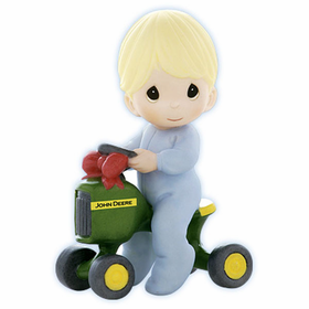 PRECIOUS MOMENTS JOHN DEERE:  MY FIRST SET OF WHEELS
