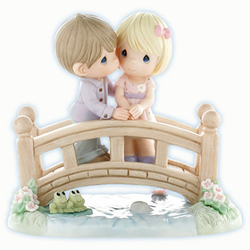 PRECIOUS MOMENTS LIMITED EDITION:  OUR LOVE IS THE BRIDGE TO HAPPINESS