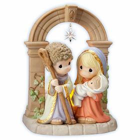 Precious Moments Limited Edition:  Unto Us A Child Is Born - Holy Family Figurine