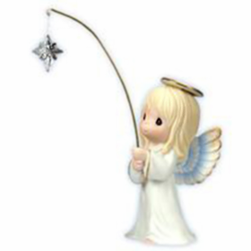 Precious Moments Nativity:  And They Followed The Star - Angel Figurine