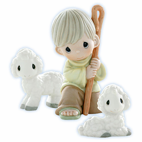 Precious Moments Nativity: Shepherds Abiding In The Field 3 Piece Set