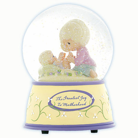 PRECIOUS MOMENTS: THE GREATEST JOY IS MOTHERHOOD - MUSICAL WATER GLOBE