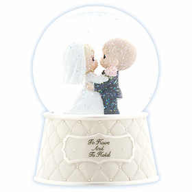 Precious Moments Wedding: To Have And To Hold - Musical Water Globe
