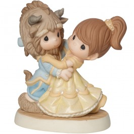 Precious Moments �You Are My Fairy Tale Come True� Beauty And The Beast, Bisque Porcelain Figurine