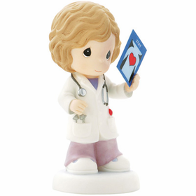 Precious Moments:  Your Caring Heart is Easy to See - Doctor Figurine