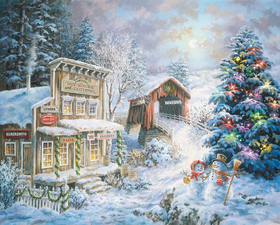 Puzzle Country Christmas Store 1000 Piece