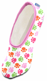 snoozies! Dog Paws Mini Pink skinnies