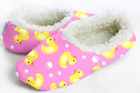 snoozies! Pink Ducky Foot Coverings