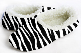snoozies! Zebra Foot Coverings