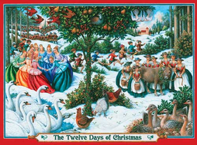 Puzzle The Twelve Days of Christmas 1000 Piece