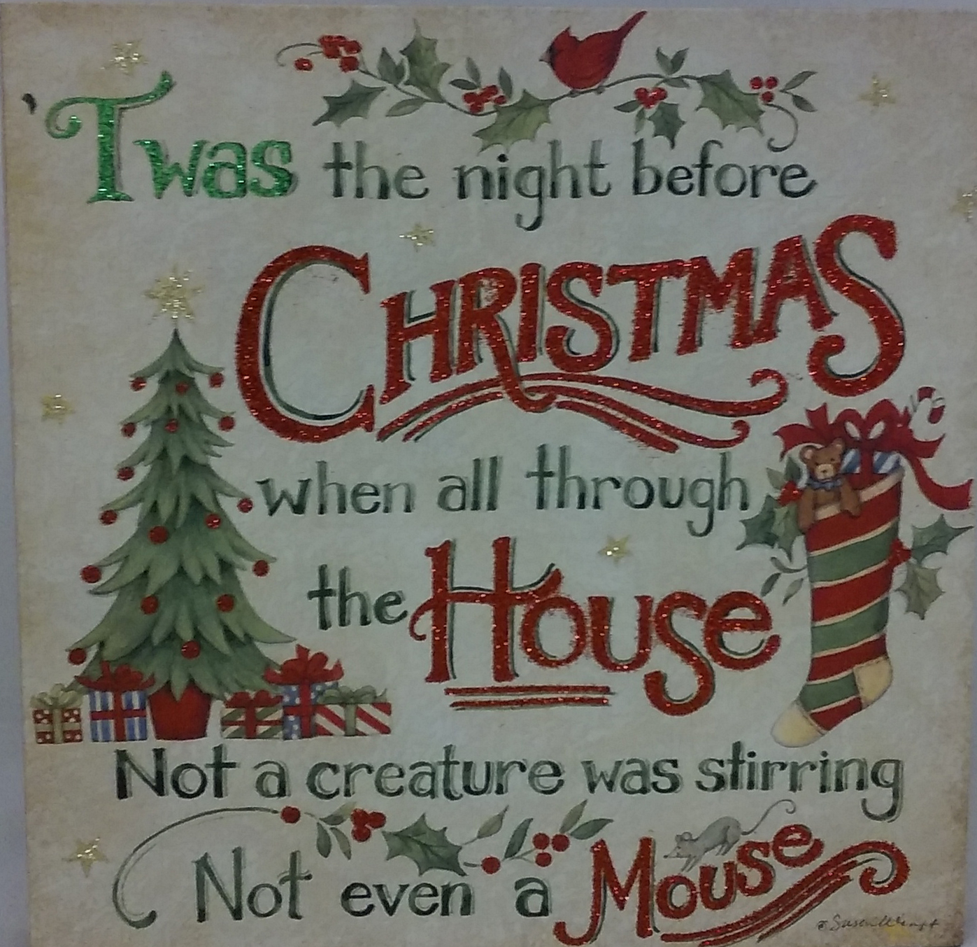 Twas The Night Before Christmas Decorative Wall Plaque