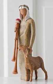 Willow Tree Zampognaro Shepherd with Bagpipe