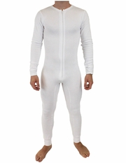 NDS Wear Mens Stretch Thermal Cotton Union Suit - White