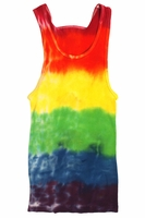 Ribbed Rainbow Tank Top for men