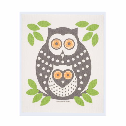Cose Nuove Owls Swedish Dishcloth (Set of 3)