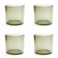 Cose Nuove Recycled Glass Moss Candle Votive Set of 4