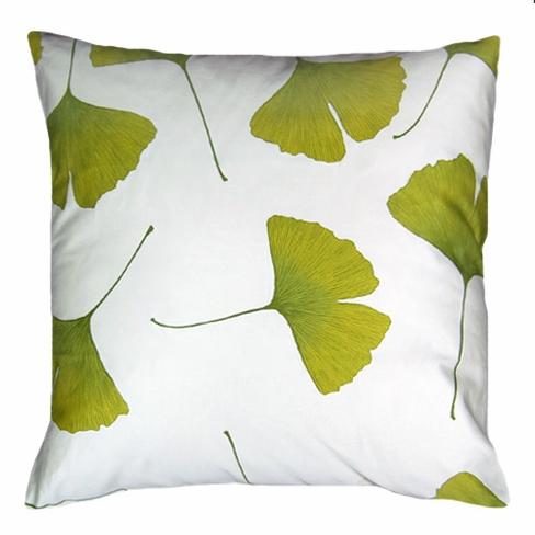 Marimekko Biloba Cotton Sateen Throw Pillow