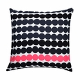 Marimekko Rasymatto Black / Pink Throw Pillow