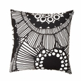 Marimekko Siirtolapuutarha White / Black Throw Pillow