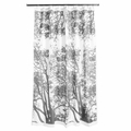 Marimekko Tuuli Grey Long Polyester Shower Curtain