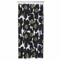 Marimekko Unikko Black Long Shower Curtain