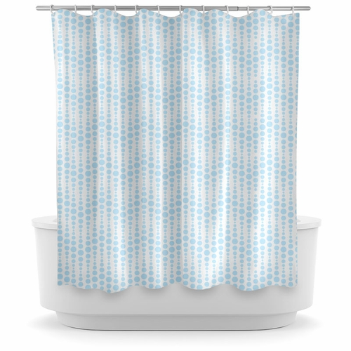 Opima Bubble Wave Blue Shower Curtain