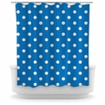 Opima Polka Dot Blue Shower Curtain