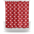 Opima Polka Dot Red Shower Curtain