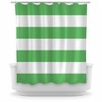 Opima Stripe Green / White Shower Curtain