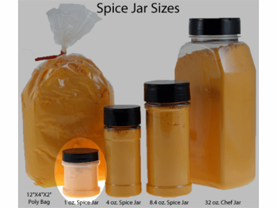 1 oz. Spice Jar (Natural PP) with Black Cap and Sifter