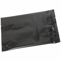 "2 oz. Heat-Seal Packet 6.5""X4.25"" Glossy Black, 100 Packets"