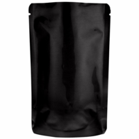 "2 oz. Heat-Seal Stand-Up Pouches 6""X4""X2 3/8"" Glossy Black, 100 Pouches"