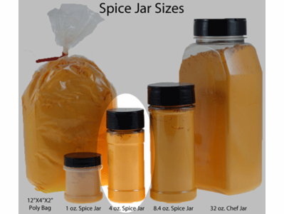 4 oz. Spice Jar (Clear PET) with Black Dual Door Closure Cap