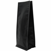 "8 oz. Heat-Seal Block-Bottom Gusseted Bags 9 3/8""X3.5""X2.75"" Matte Black, 50 Bags"