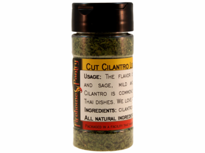 Cilantro Leaves, Cut, in a Spice Jar (0.53 oz.)