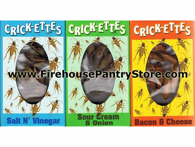 "Crickettes ""Original Cricket Snax"" - 1 Box - Choose from 3 Flavors"